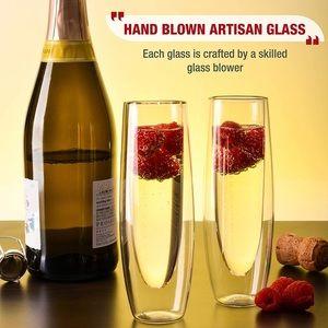 Eparé Champagne Flutes for Weddings Bridal Showers
